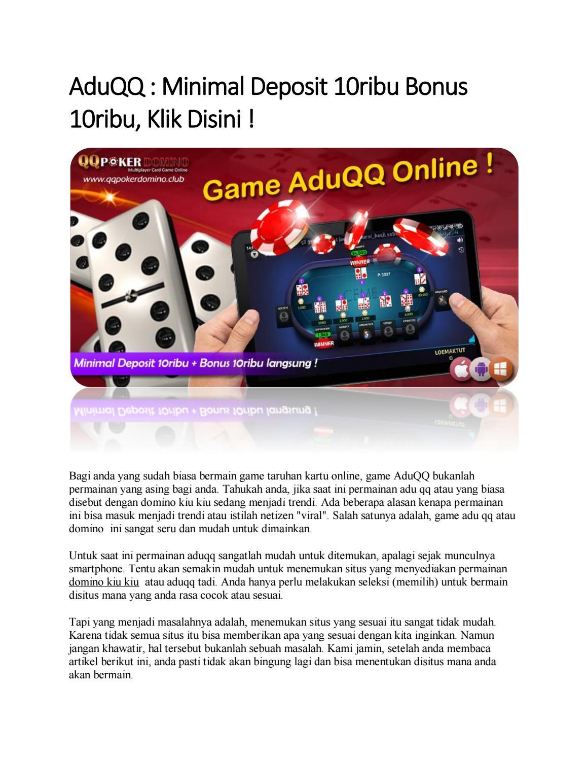 Aduqq Minimal Deposit 10ribu Bonus 10ribu Klik Disini By Anan Issuu