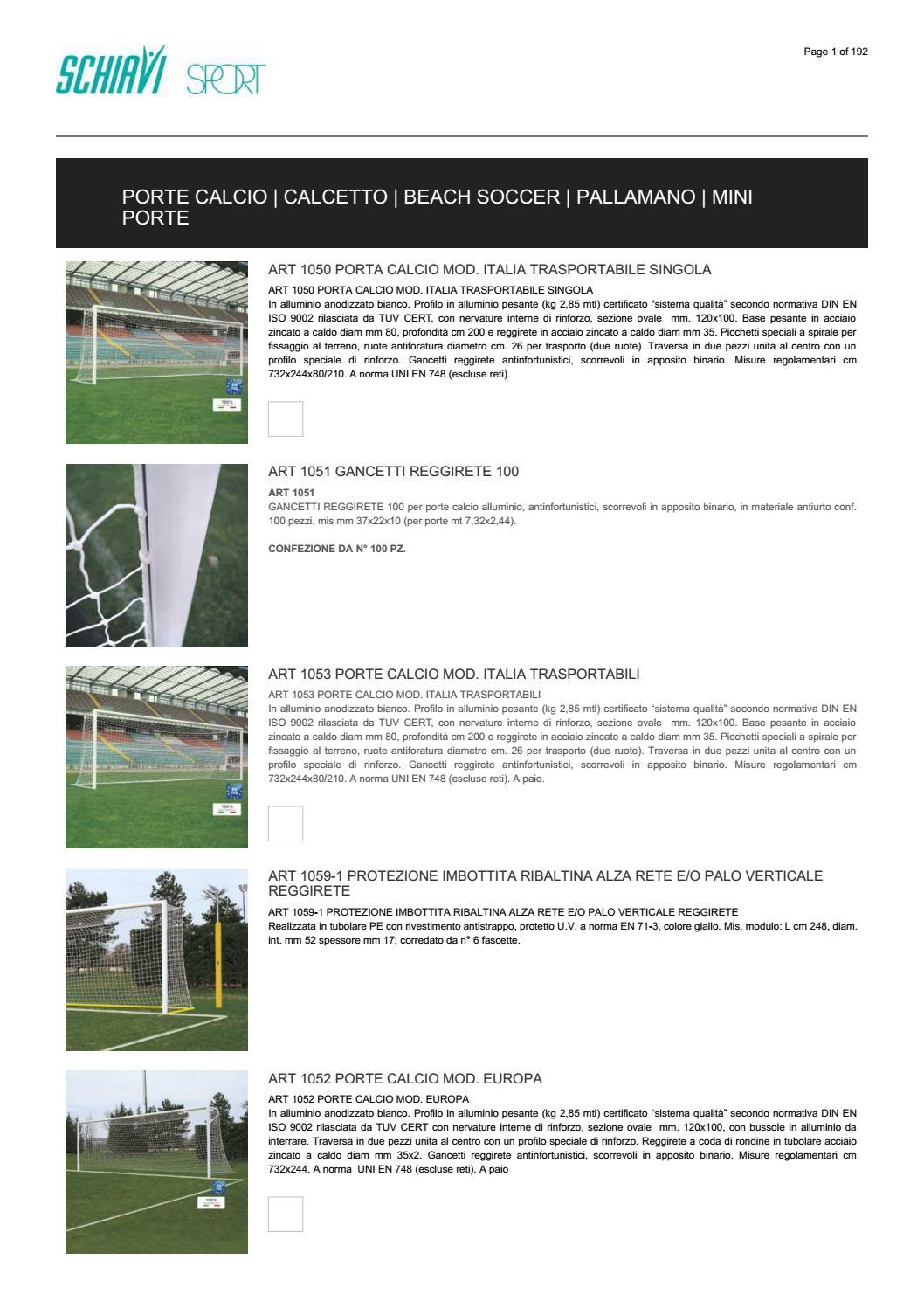 Tendirete volley ottone SCHIAVI SPORT manovella asportabile rete pallavolo gioco