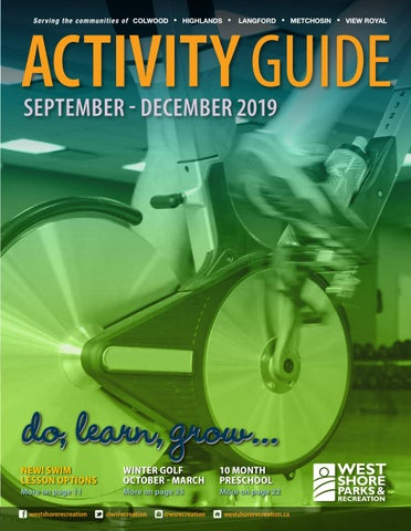 WSPR Fall Activity Guide Sept Dec 2019 by West Shore Parks
