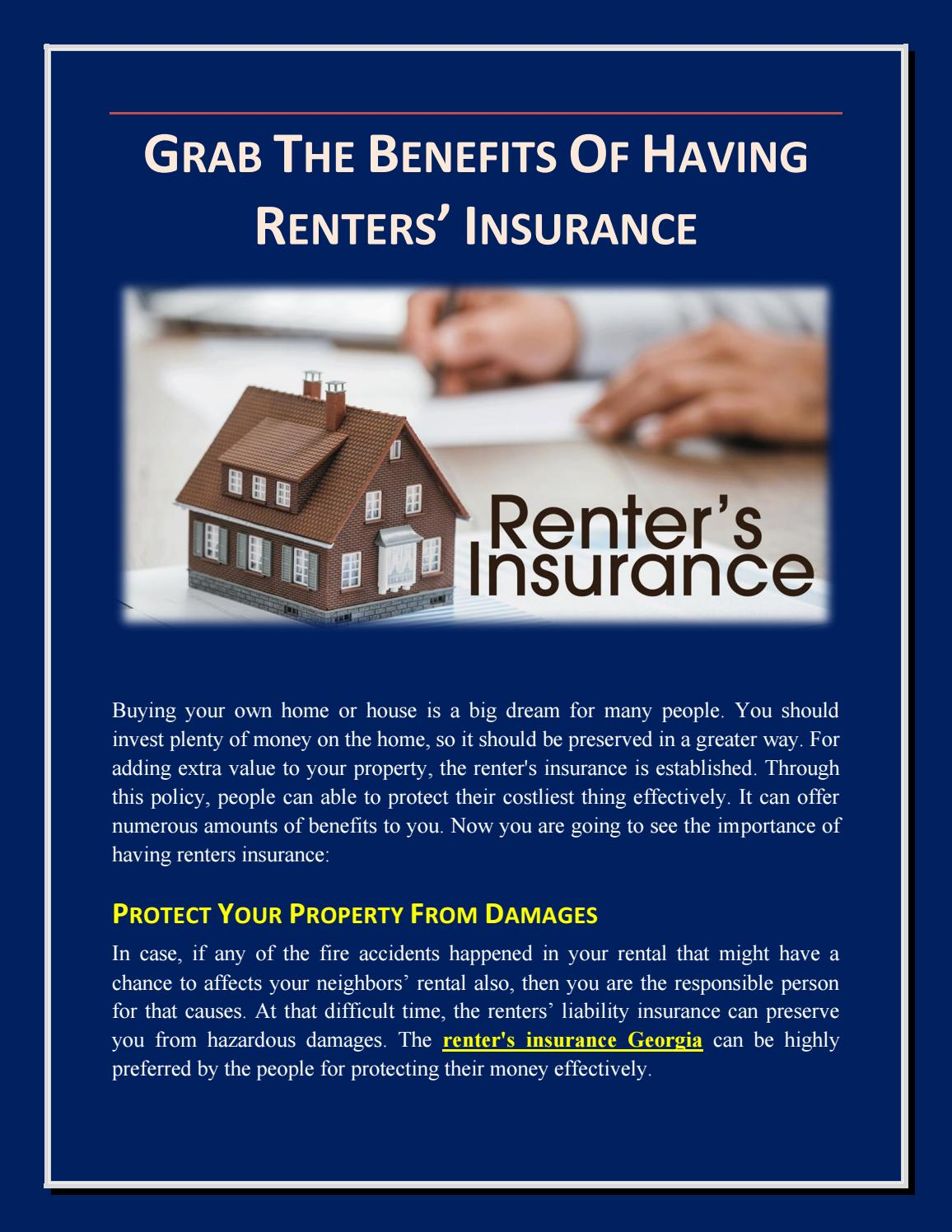 Home Renters Insurance >> Grab The Benefits Of Having Renters Insurance By Mark Will