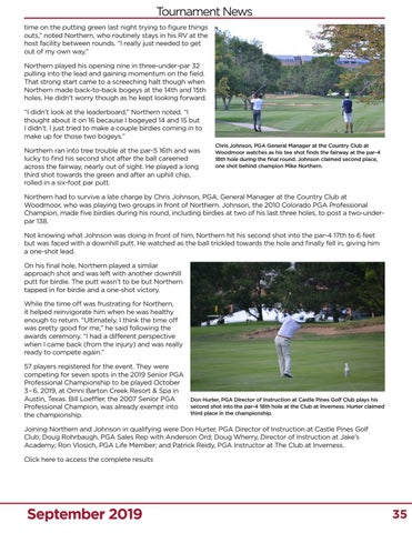 Page 35 of Northern Battles Back to Claim Second Colorado Senior PGA Professional Championship