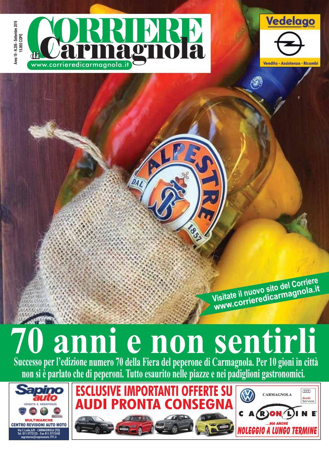 Centro Del Materasso Carmagnola.Corriere Di Carmagnola Settembre 2019 By Corriere Di Carmagnola