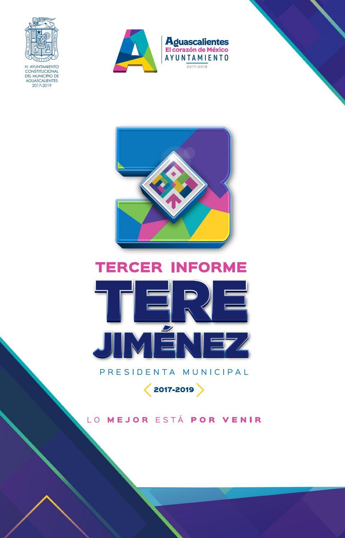 Tercer Informe Tere Jiménez Aguascalientes Lo Mejor Está