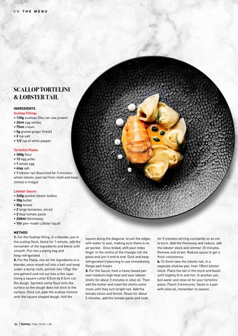 Page 34 of Scallop Tortellini and Lobster Tail