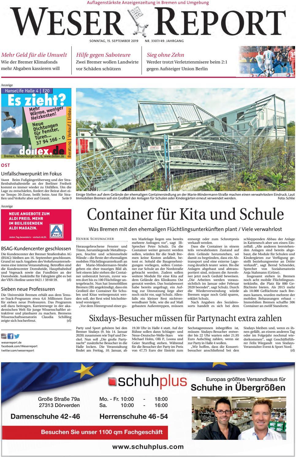 Weser Report Ost vom 15.09.2019 by KPS Verlagsgesellschaft