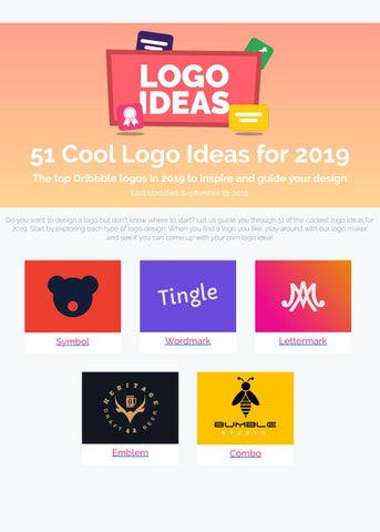 51 Cool Logo Ideas For 2019 By Logolab7 Issuu