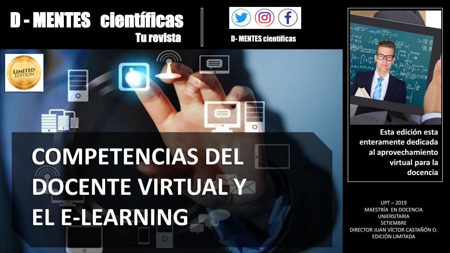 Competencias Del Docente Virtual Y El E Learning By Pjcastan7 Issuu