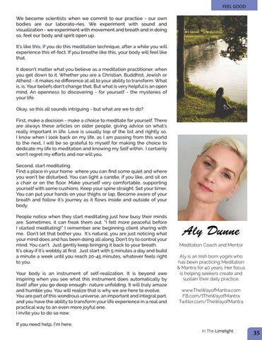 Page 35 of Meditation Coach Ali Dunne  - Why Meditate!