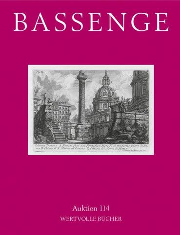 Bassenge Buchauktion 114 Wertvolle Bücher By Galerie