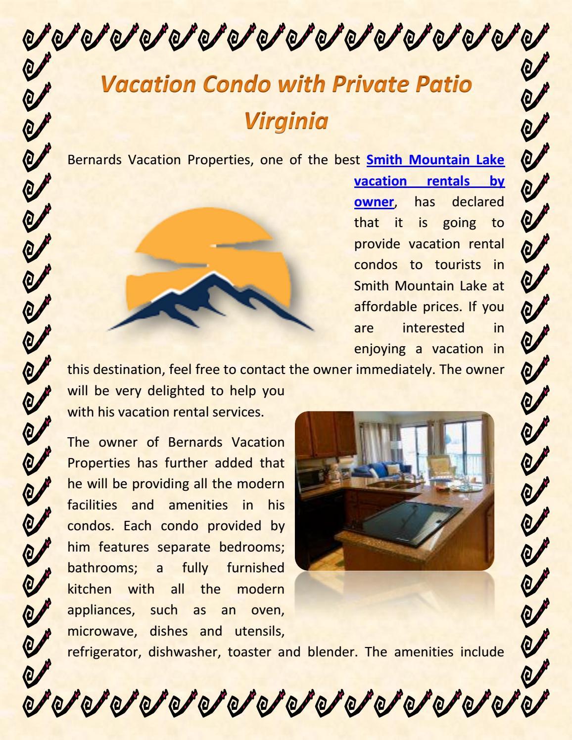 Vacation Condo with Private Patio Virginia