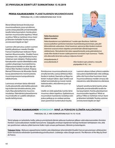 Page 40 of Pekka Kaarakainen: Planetaarinen Muunnosvaihe