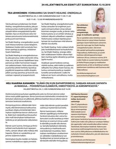 Page 45 of Heli Kaarina Kananen: Elämä on kuin raparperimehu. Samaan aikaan hapanta ja makeaa.