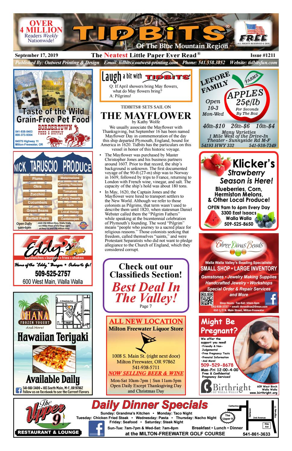 Wednesday 1211 In Cambridge Shut Up >> Walla Walla Tidbits Issue 1211 2019 09 17 By Tidbits Bmr