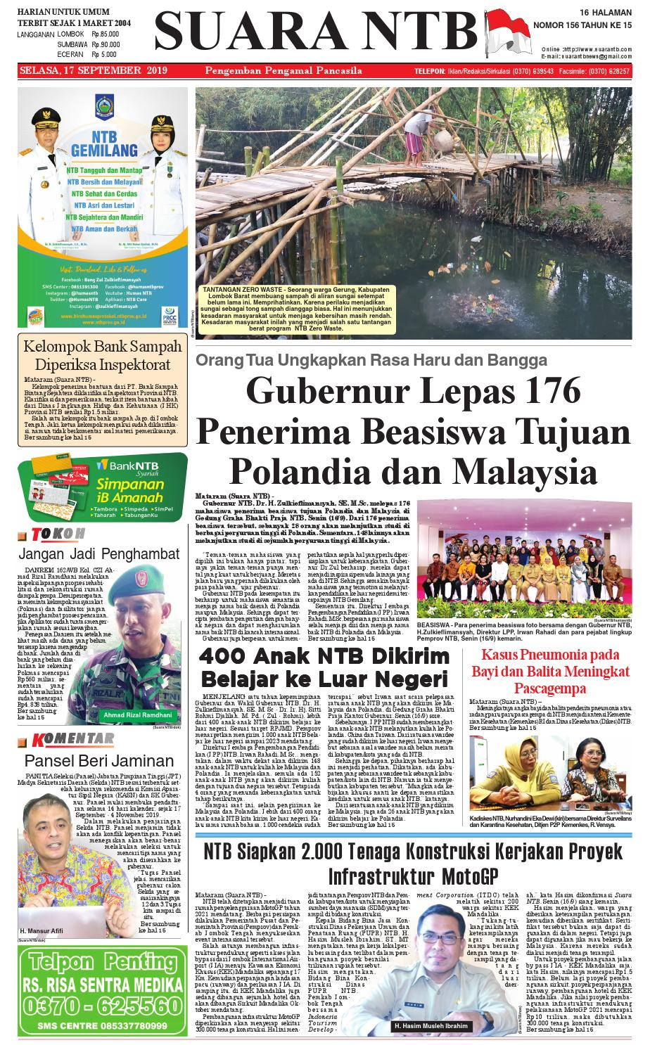 Edisi Selasa 17 September 2019