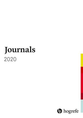 Ssci Journal List 2020.Journals Catalogue 2020 By Hogrefe Issuu