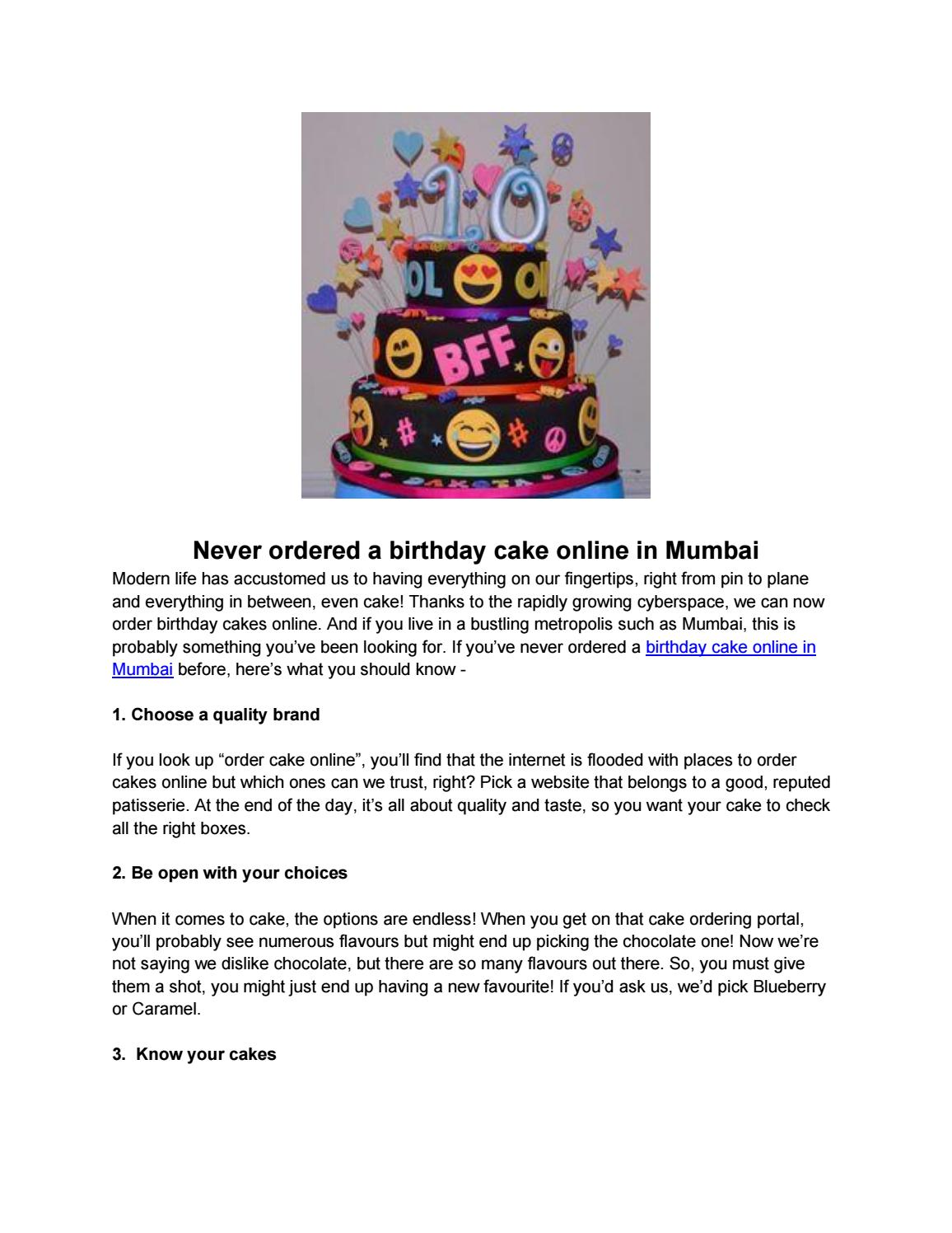 Marvelous Never Ordered A Birthday Cake Online In Mumbai By Chloedecker859 Funny Birthday Cards Online Amentibdeldamsfinfo