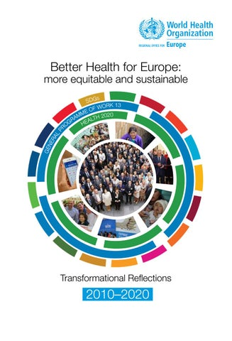 Better Health for Europe: more equitable and sustainable