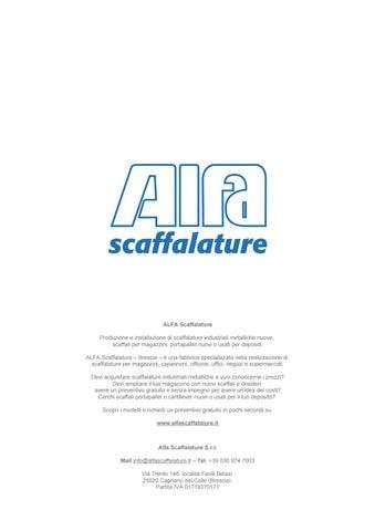 Preventivo Scaffalature Metalliche.Alfa Scaffalature Industriali Metalliche Catalogo By Alfa
