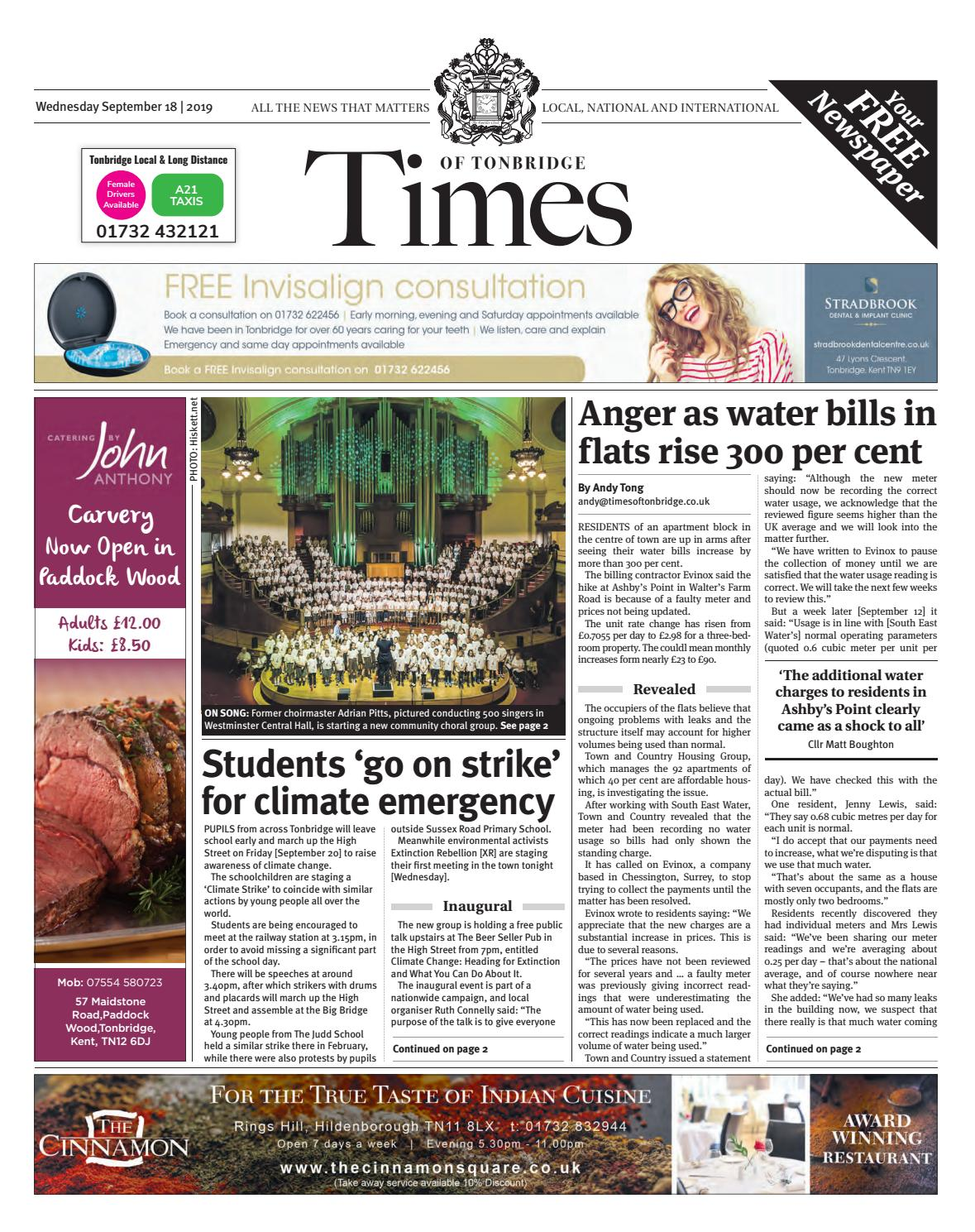 Times Of Tonbridge 18th September 2019 By One Media Issuu