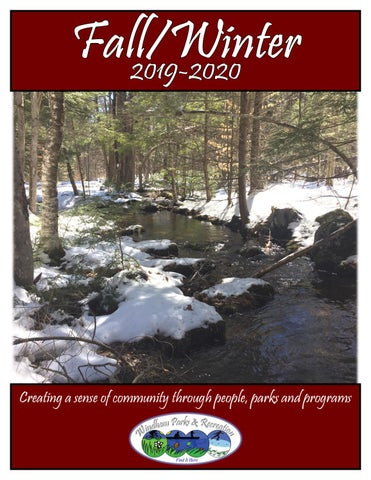 Fryeburg Fair Dates 2020.Fall Winter 2019 2020 Brochure By Windham Parks Recreation