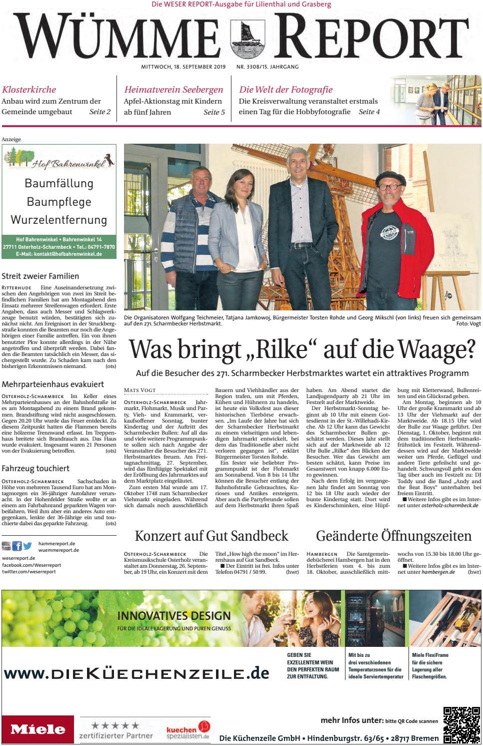 Wümme Report vom 18.09.2019 by KPS Verlagsgesellschaft mbH