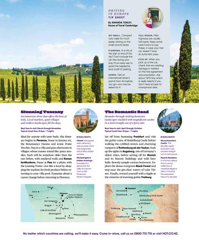 Page 19 of The Roads best travelled in Europe.
