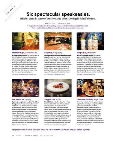 Page 20 of Six spectacular speakeasies.