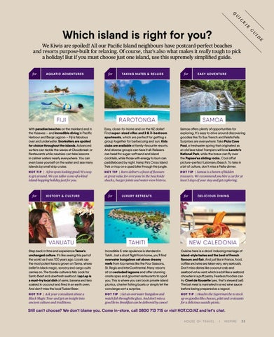 Page 33 of Which island is right for you?