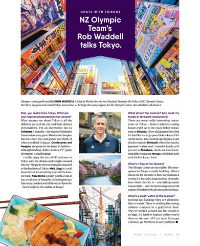 Page 37 of NZ Olympic Team's Rob Waddell talks Tokyo.