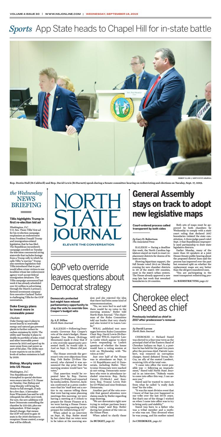 North State Journal Vol. 4, Issue 30 by North State Journal