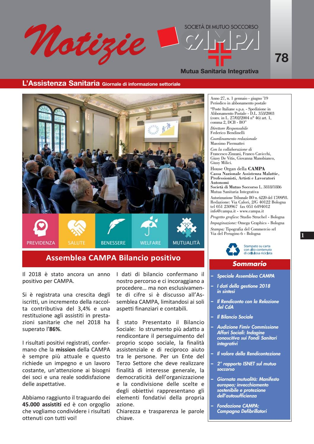 Notiziario 78 By Campa Mutua Sanitaria Integrativa Issuu