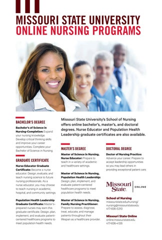 Online Nursing Programs >> Nursing Programs Flyer By Missouri State University Outreach