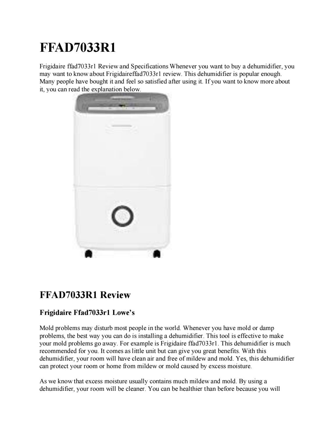 Frigidaire Ffad7033r1 Review By Kitchen Home Stores Issuu