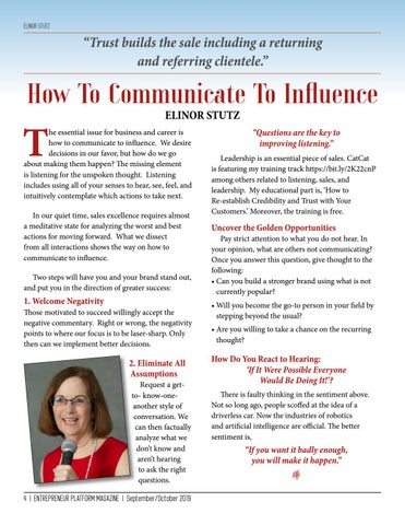Page 4 of How To Communicate To Influence