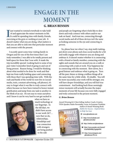 Page 6 of Engage In The Moment