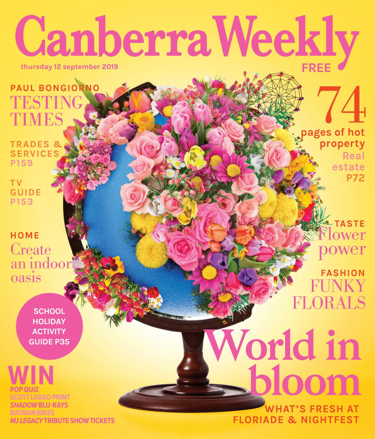 12 September 2019 By Canberra Weekly Magazine Issuu