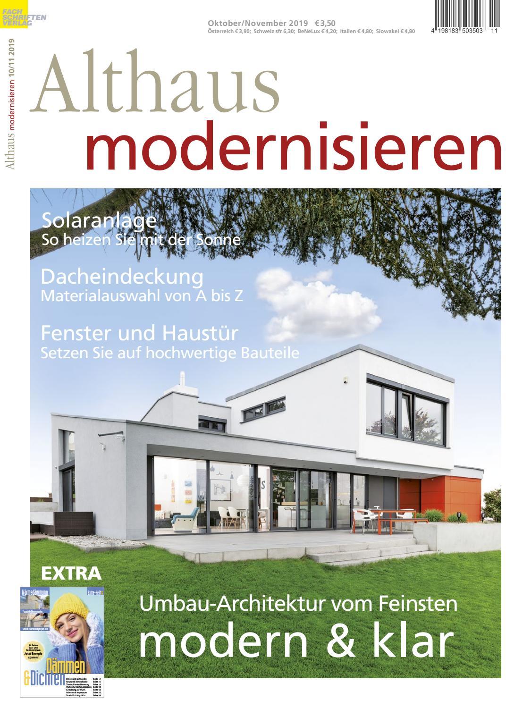 Althaus modernisieren 10/11-2019 by Fachschriften Verlag - issuu
