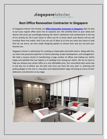 Best Office Renovation Contractor In Singapore By Singapore Interior Issuu
