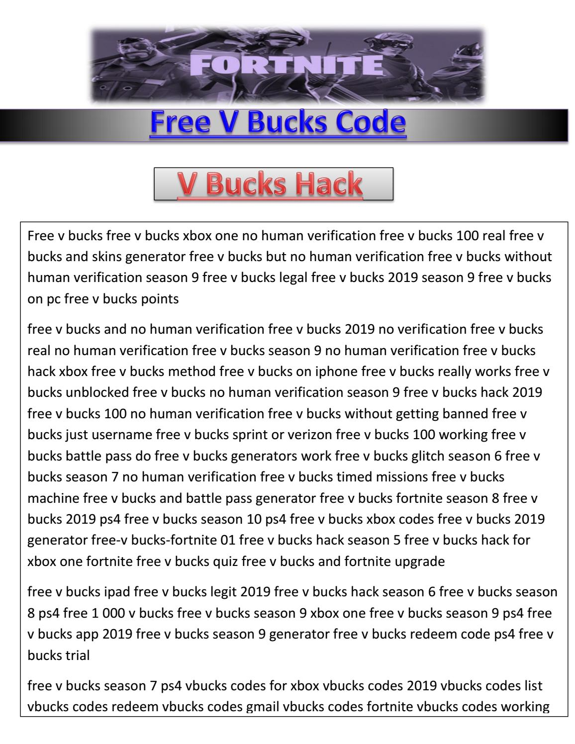 Fortnite Redeem V Bucks Code Pdf Get Easy Method To Get Fortnite Free V Bucks Code 2019 Instant Free V Bucks Life Time By Sonarsandwip Issuu