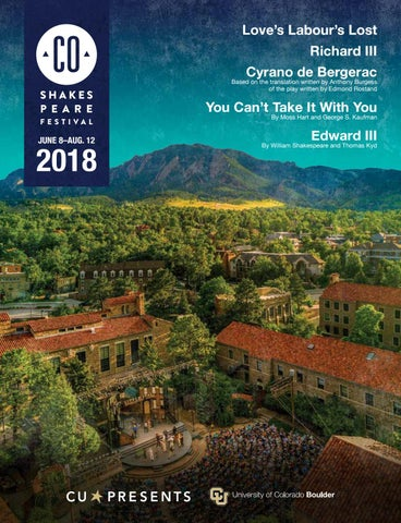 Colorado Shakespeare Festival 2018 By The Publishing House