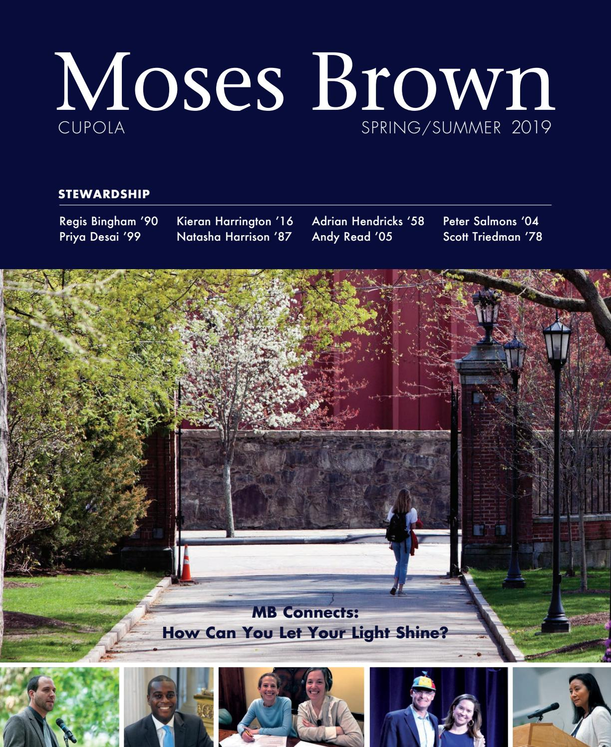 Moses Brown Cupola (spring 2019 alumni magazine) by Moses