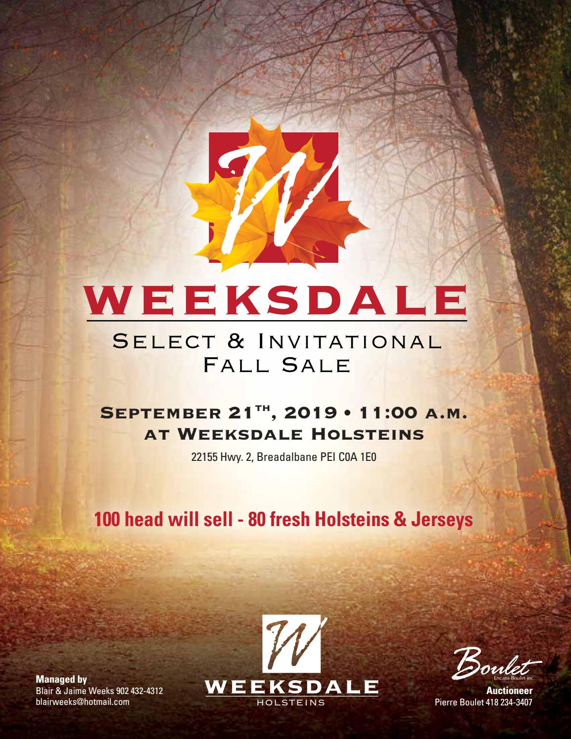 Weeksdale Select Invitational Fall Sale 2019 By Cowsmopolitan Issuu