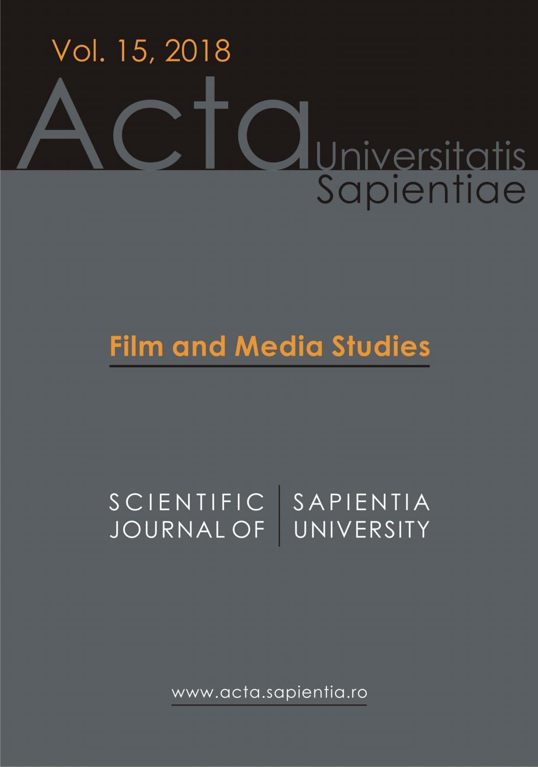 Amor En Fin Movie Online film and media studies vol. 15, 2018acta universitatis