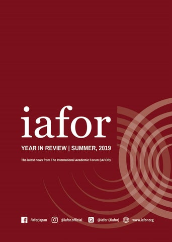 Author/thaddeus Aguilar >> Iafor Year In Review Summer 2019 By Iafor Issuu