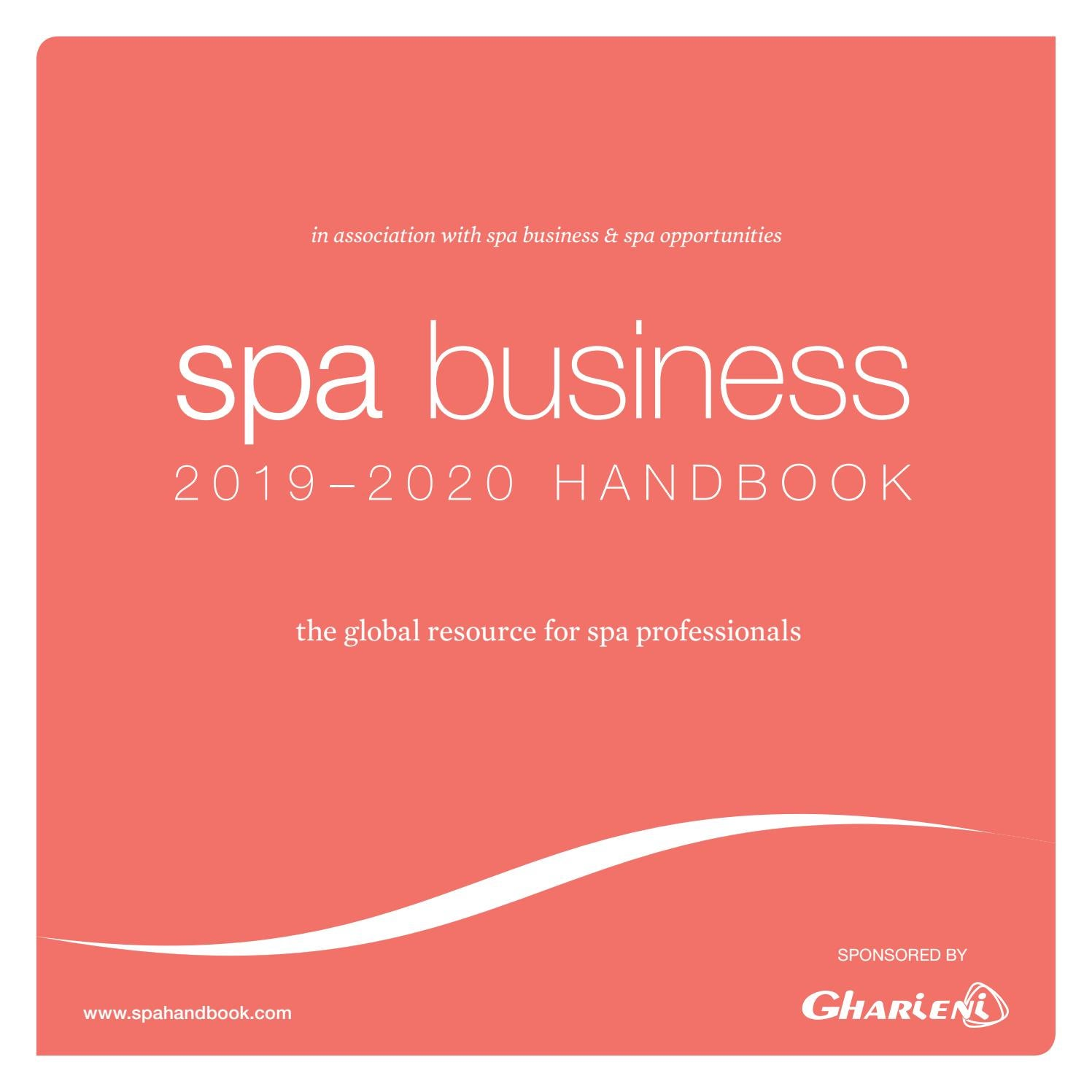 Spa Business_handbook 2019-2020 by Leisure Media - issuu
