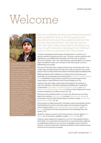 Page 3 of Editor's Welcome