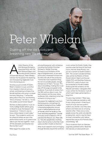 Page 9 of Spotlight on... Peter Whelan