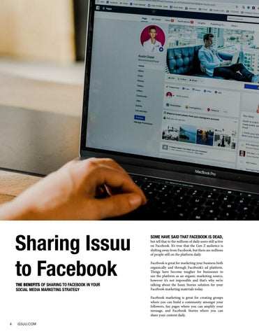 Page 4 of Sharing Issuu to Facebook