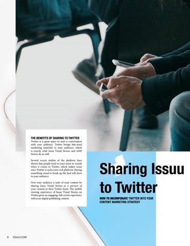 Page 8 of Sharing Issuu to Twitter