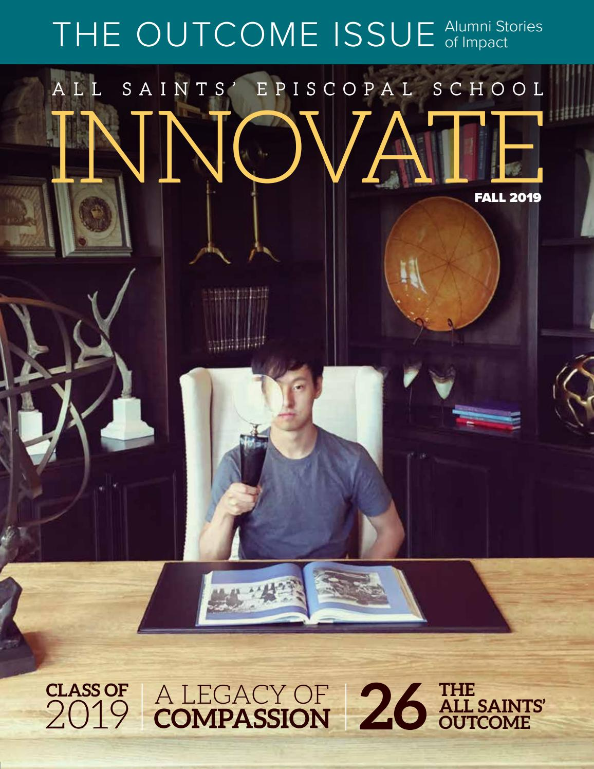 Pleasing Innovate Fall 2019 By All Saints Episcopal School Issuu Gmtry Best Dining Table And Chair Ideas Images Gmtryco